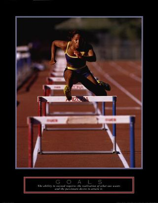 Runner-Jumping-Hurdles-Posters