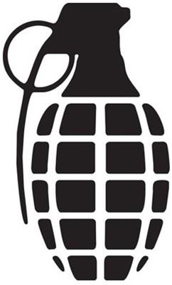 Grenade-85-die-cut-grenade-solid-black